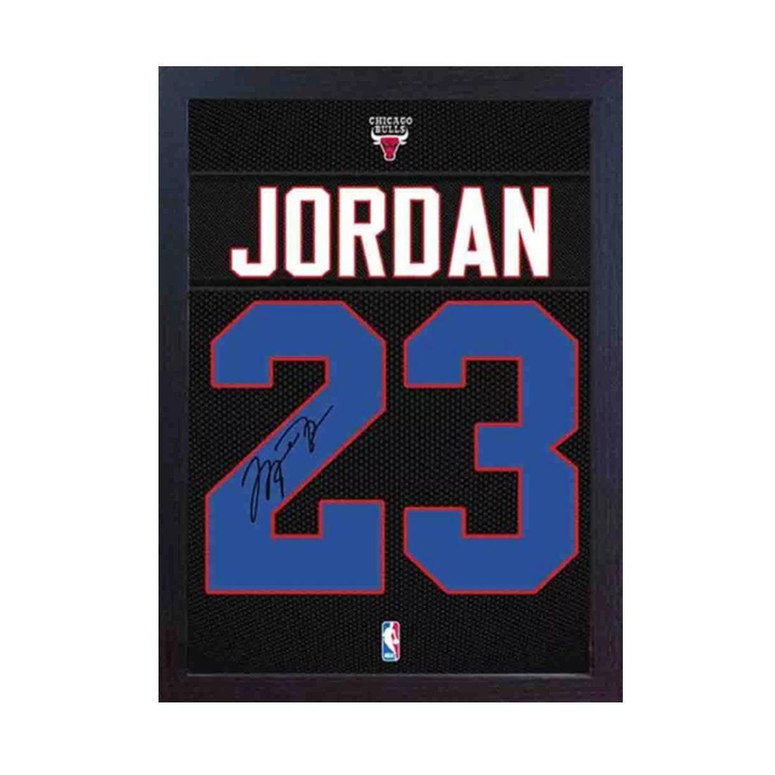 Michael Jordan Chicago Bulls signiert Autogramm NBA gerahmt | Etsy