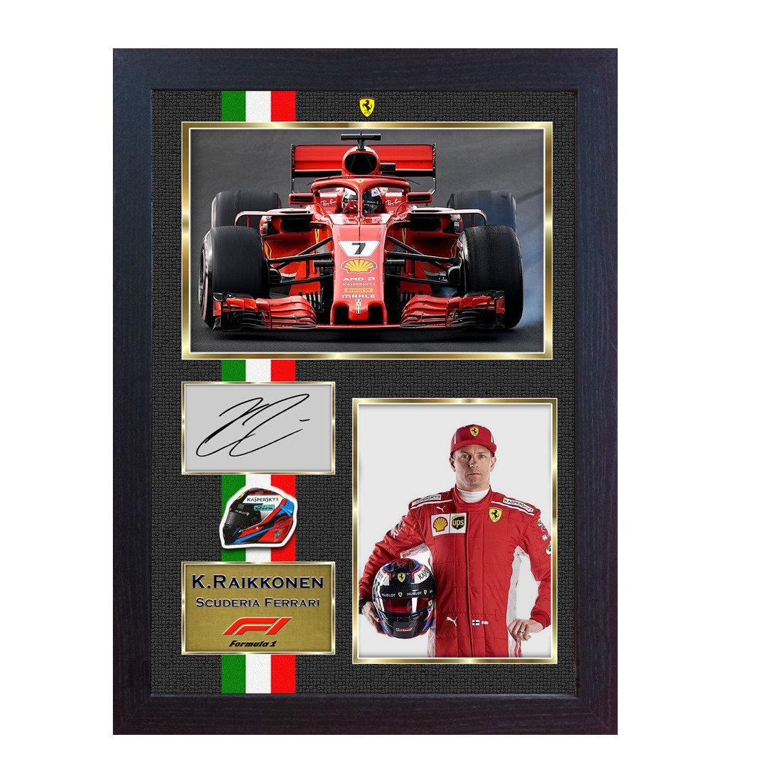 Neue 2018 Kimi Räikkönen Ferrari Formel1 signiertes Autogramm