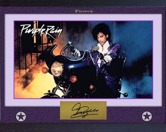 PRINCE signed autograph photo print Purple Rain Framed- MDF printed without mount
