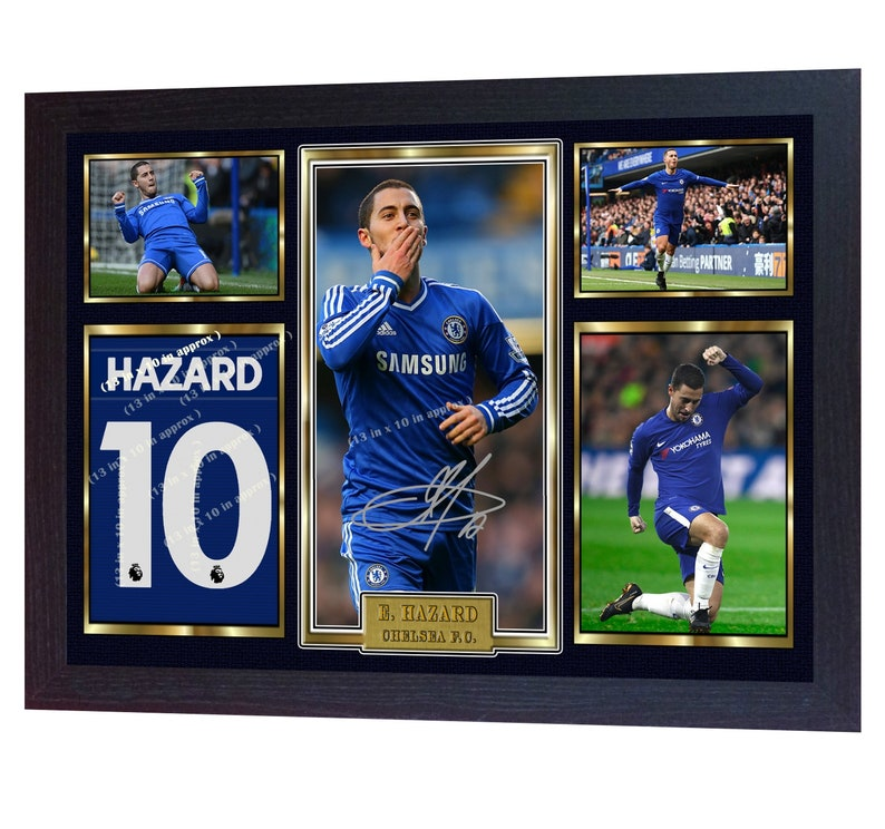8fd0eefb1 New Eden Hazard signed autograph photo print poster Football