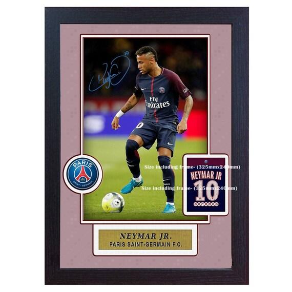 70fc27916a1 New Neymar Paris Saint Germain print signed autograph Framed