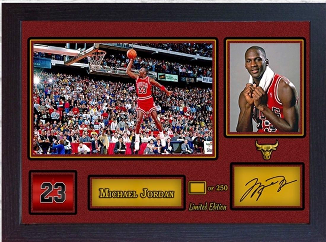 Michael Jordan Chicago Bulls signiert Autogramm NBA Basketball | Etsy
