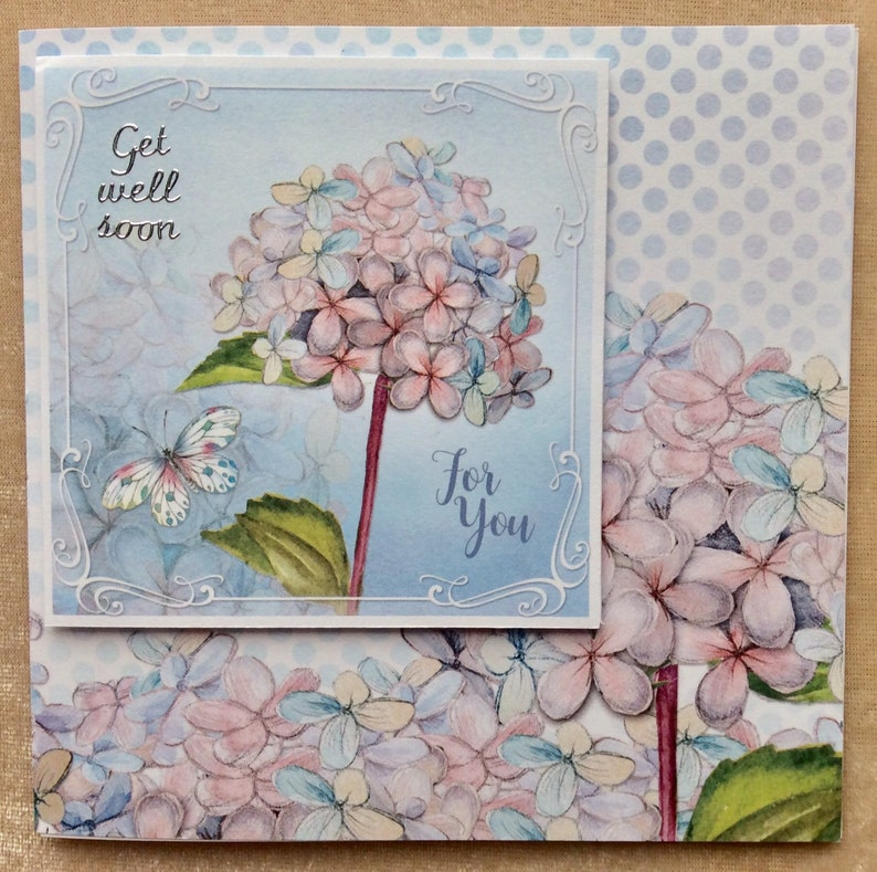 Card for Her Thinking of You Handmade Get Well Soon Card Speedy Recovery