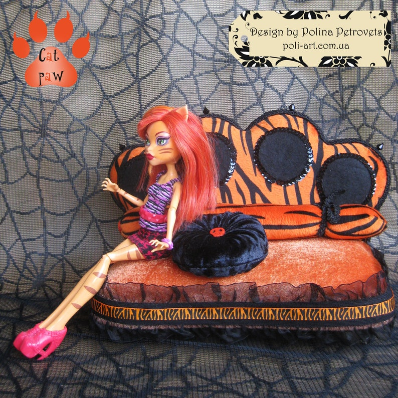 Mh Doll Furniture For Monster High Sofa Doll Bed Lounge Bed Etsy