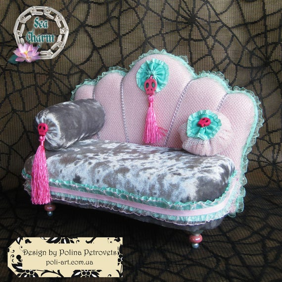 Doll House Furniture Mh Doll Furniture Monster High Bed Lounge Etsy