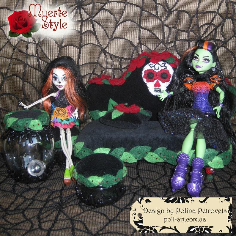 Monster High Doll Furniture Doll House Furniture Muerte Doll Etsy