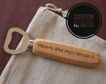 Custom wood beer opener, personalized gift for wedding, best man gift, personalized bottle opener, rustic wedding party gift