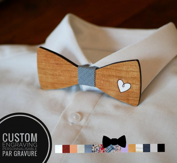 engraving offered. Wooden bow tie