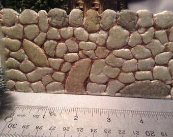 Large Stacked stone retaining wall-large version