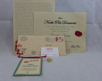 Letter From Santa Personalized Nice Certifacate A Gold Colored Santa Ring & Magic Reindeer Food PLUS a Free Gift