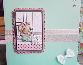 Handmade 3D shopping decoupage card for any occasion