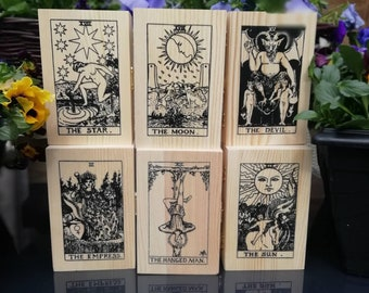 Tarot cards box 13  designs,handcrafted For storing your cards , Hinged with a metal clasp to front