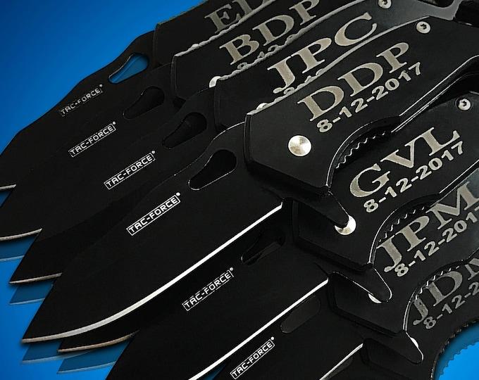 14 Personalized Knifes - 14 Groomsmen gifts - Bridesmaid gift set - Best Man & Groomsmen engraved tactical knives - Wedding gift set