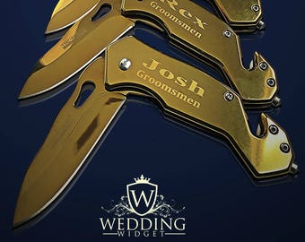 12 Personalized Knifes - 12 Groomsmen engraved gift - Usher & Officiant gift - Best Man engraved tactical knife - Wedding and Birthday gift