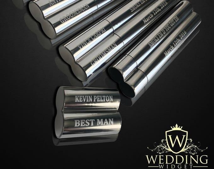 13 Groomsmen gifts  - 13 Engraved cigar cases - Gifts for him - Personalized cigar holder - Best Man, Usher & oficiant gift - Wedding set