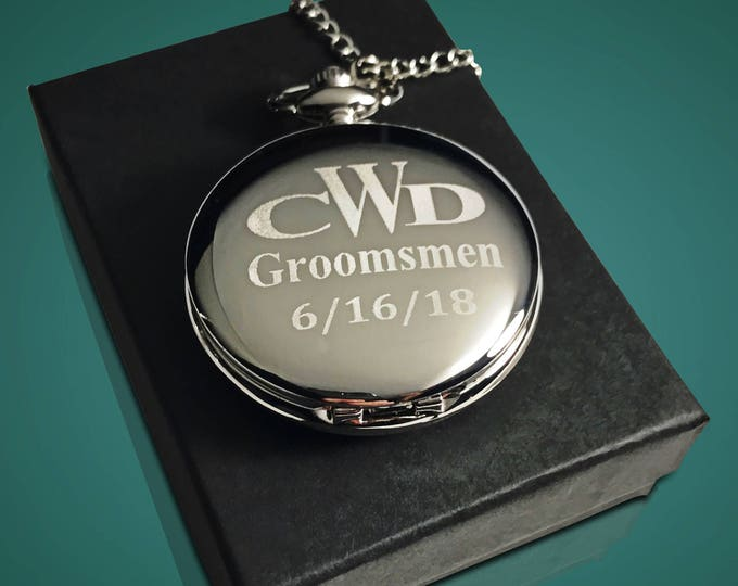 Personalized pocket watch - Best Man Gift - Engraved pocket watch with gift box - Son in law gift - Brother in law gift for men - Weddings