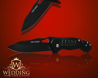 2 Personalized Knifes - 2 Groomsmen engraved gifts - Usher & Officiant - Personalize engraved tactical knife - Wedding gifts - Birthday gift