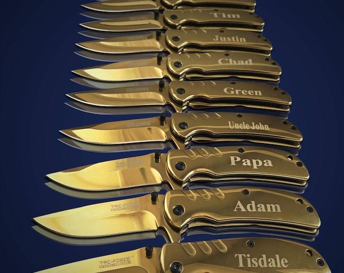 15 Personalized Knives - 15 Groomsmen gifts - Officiant gift - Best Man & Groomsmen engraved knives - Wedding gift set - Usher gift