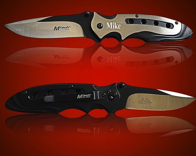 Tactical Engraved knife - Personalized laser engraved Groomsmen gift - Custom Knife  - Gifts for him - Usher and Best Man gift -Wedding gift