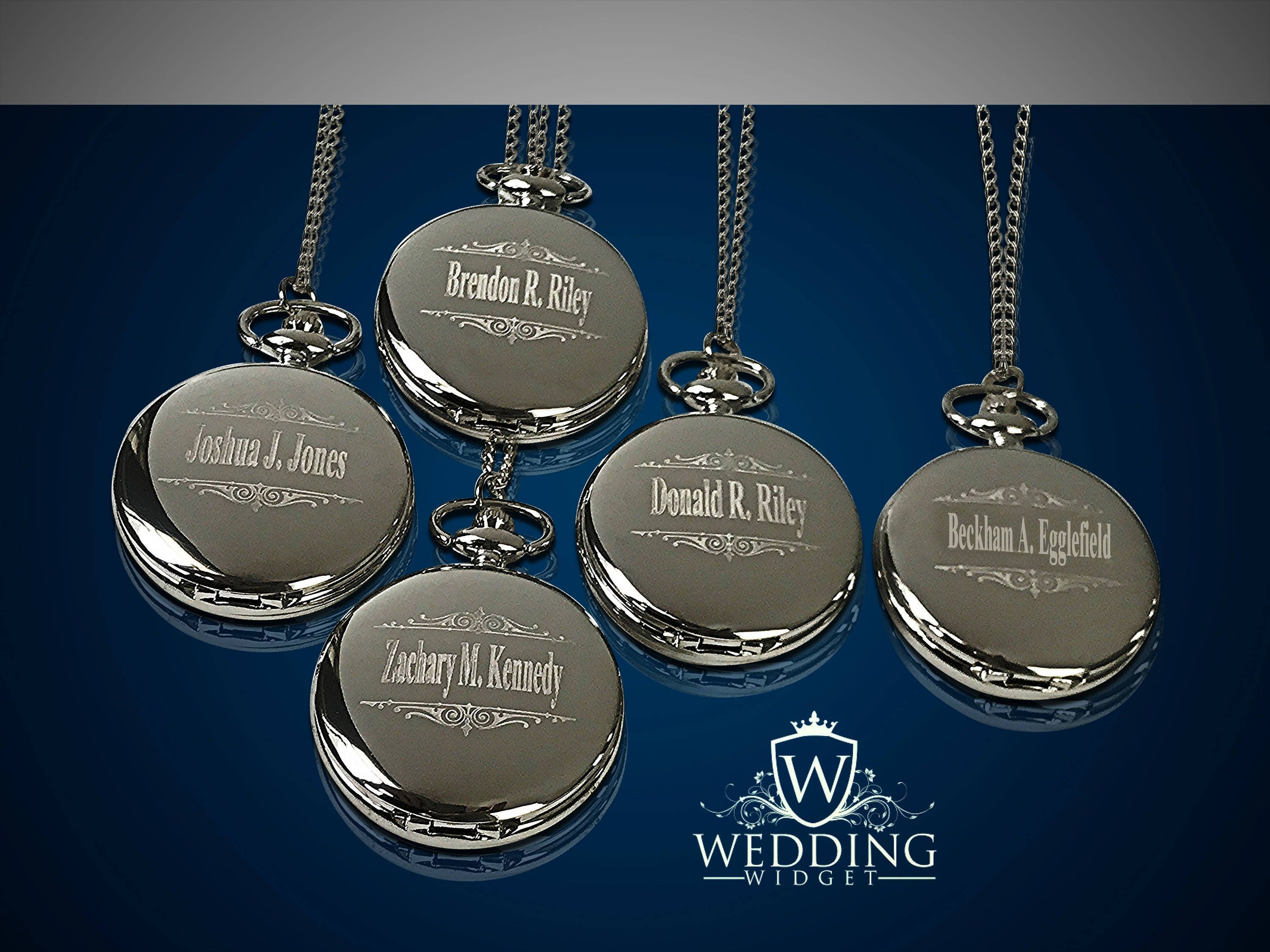 a37584d32d3 15 Personalized Pocket Watches - 15 Groomsman engraved gifts - Usher    Officiant gifts - Best Man - Father of the Bride - Personalized gifts