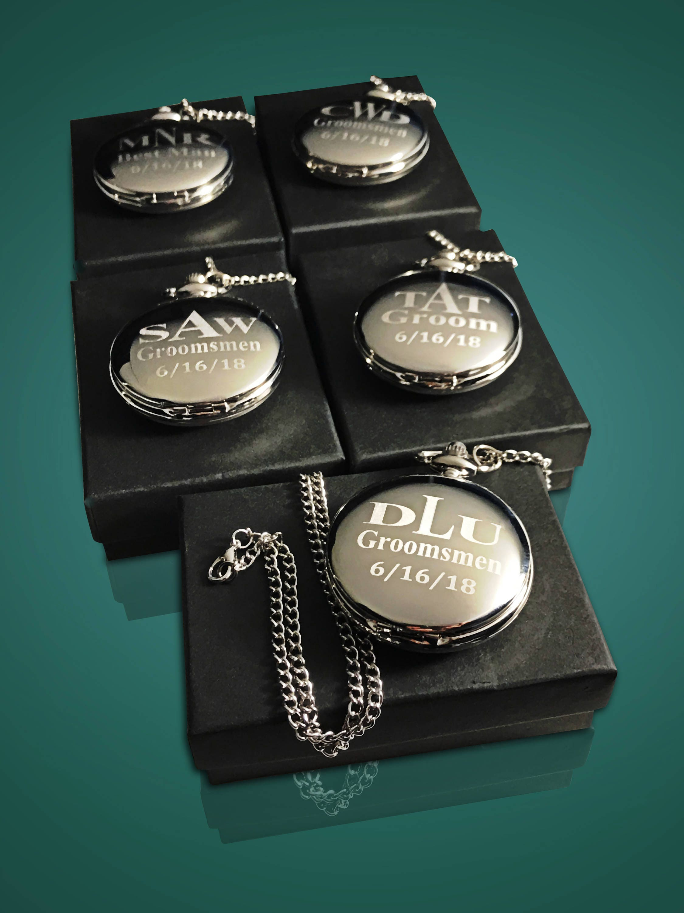 13 Groomsmen Pocket Watches 13 Personalized Groomsmen Gifts