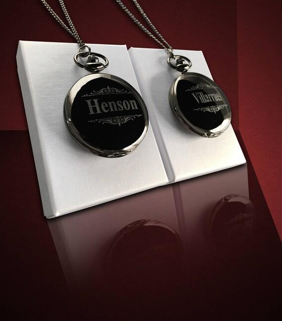 image 0 & Pocket watch Set of 2 Personalized gift Groomsmen gift | Etsy