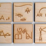 National Park magnets - unique text illustrations, laser cut wood - incl. Yosemite, Yellowstone, Grand Teton, Acadia, Arches, Zion, Badlands