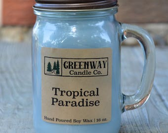 Tropical Paradise Soy Candle 16 oz