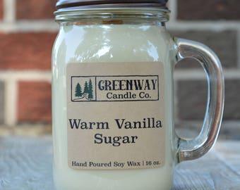 Warm Vanilla Sugar Soy Candle 16 oz