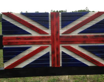 19x36 3D Distressed U.K./ British flag / 3D effect