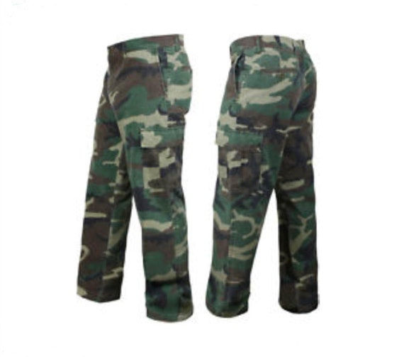 new arrivals look out for classic shoes BDU Camo Pants, Vintage 80s Army Pants, Woodland camo, Multiple Size  Listing, pre-owned, pre-worn, Vintage Army pants