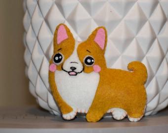 Mini plush corgi dog