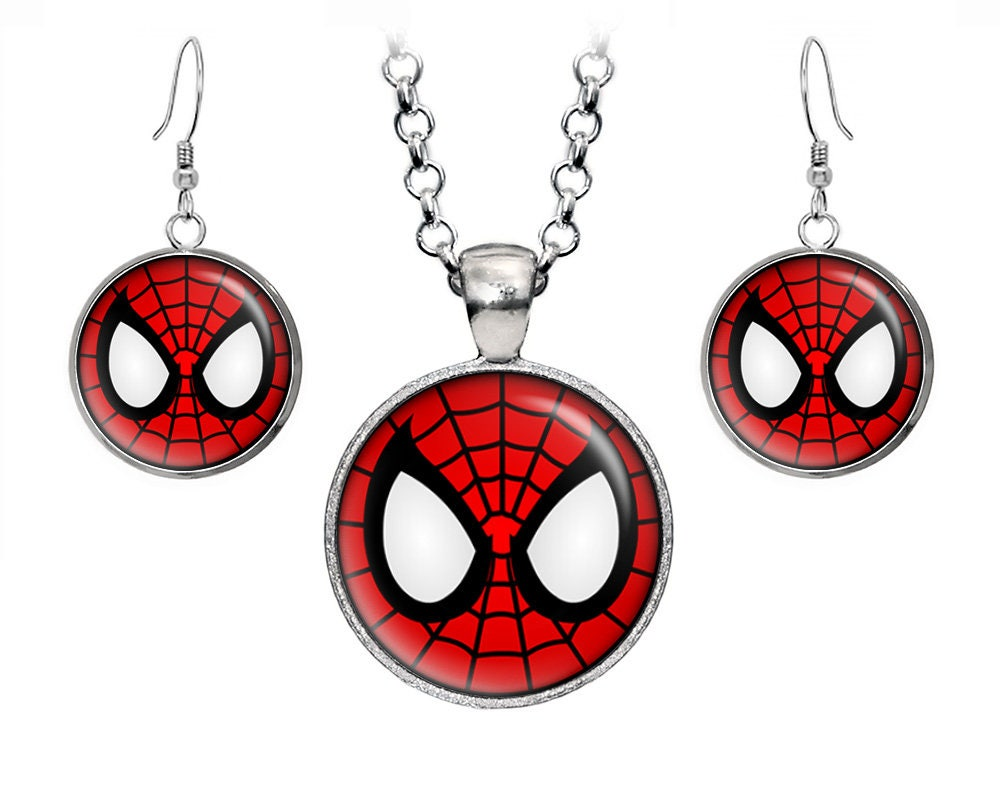 Spider-Man Pendant The Avengers Earrings Marvel Captain | Etsy