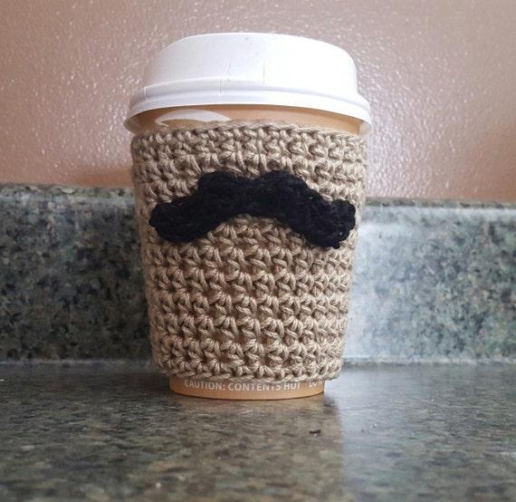 Crochet Pattern Coffee Cozy Crochet Pattern Mustache Coffee Etsy