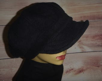 b4f5c5db Fleece Newsboy, Womens Fleece Hat, Newsboy Cap, Baker Boy Hat, Slouchy Hat, Fleece  Hat, Fleece Newsy, Newsboy Hat Women, Black Newsboy Hat
