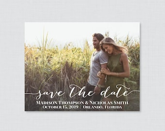 Photo Save the Date Magnets - Photo Save our Date Magnets for Wedding, Wedding Save the Date Fridge Magnets, Personalized Photo Magnets 0004