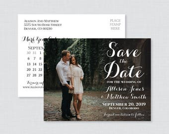 Printable OR Printed Photo Save the Date Postcards with Calendar - Photo Save our Date Postcards, Save the Dates with Landscape Picture 0005