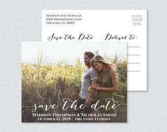 Printable OR Printed Photo Save the Date Postcards - Photo Save our Date Postcards - Save the Dates Postcards with Landscape Picture 0004