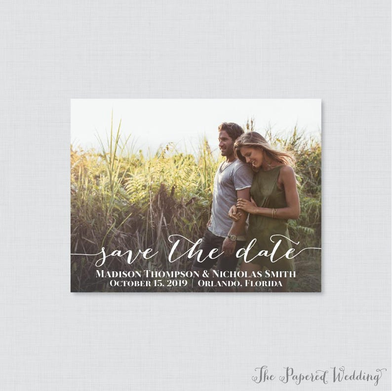 Printable OR Printed Photo Save the Date Cards  Photo Save image 0