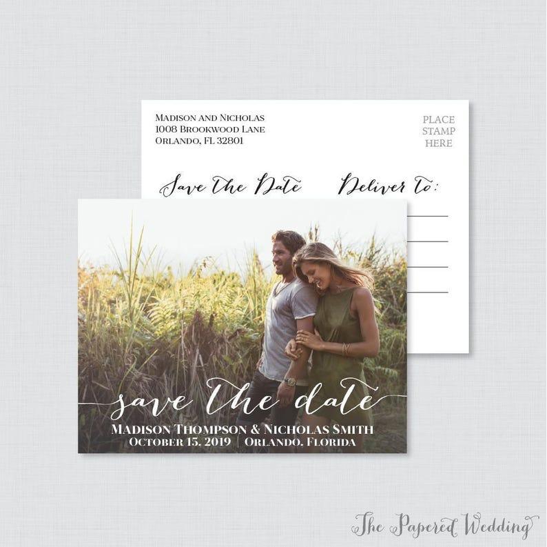 Printable OR Printed Photo Save the Date Postcards  Photo image 0
