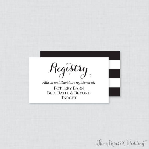 picture relating to Free Printable Registry Cards called Printable OR Released Marriage ceremony Registry Playing cards - Black and White Marriage ceremony Registry Invitation Inserts - Calligraphy Registry Inserts 0005