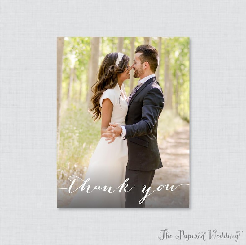 Photo Thank You Cards with Picture 0004 Printable OR Printed Photo Thank You Postcards Picture Thank You Postcards for Wedding