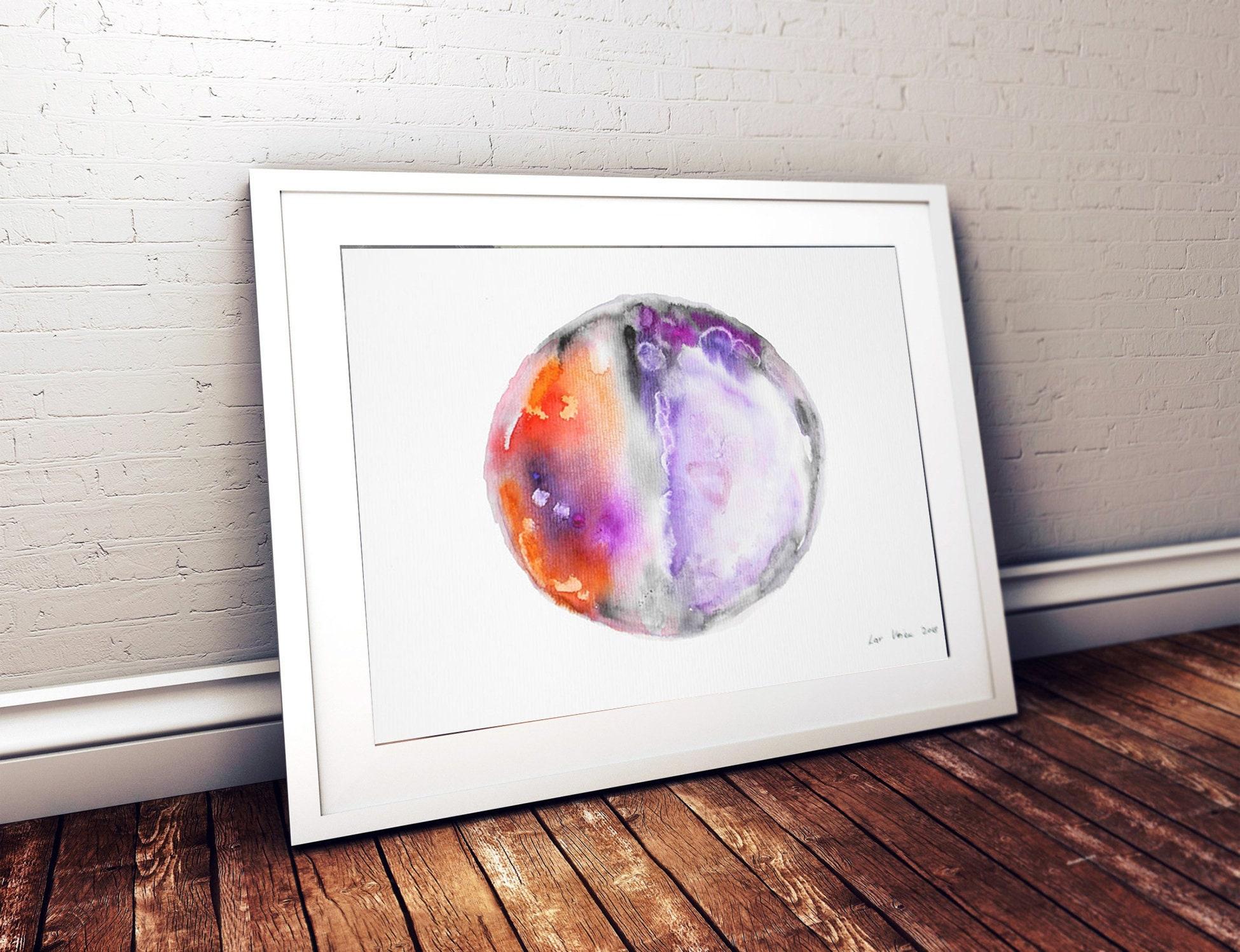 Original Abstract Watercolor PaintingWall ArtArt Gift