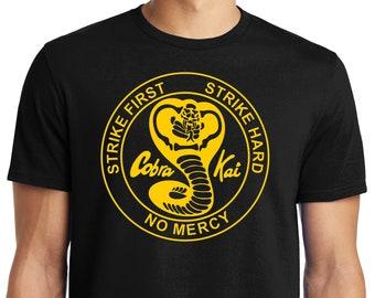 PubliciTeeZ Big and Tall King Size Karate Kid Cobra Kai Logo T-Shirt