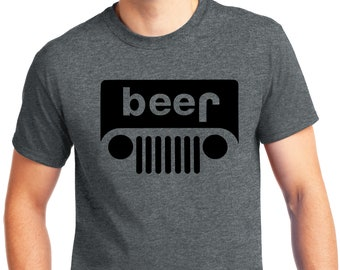c3cfa09fa PubliciTeeZ Big and Tall King Size Beer Jeep Parody Logo T-Shirt