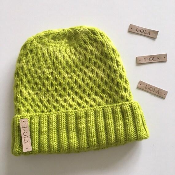 Hand gestrickte Mütze Wollmütze Waben Waben-Hut für Frauen | Etsy