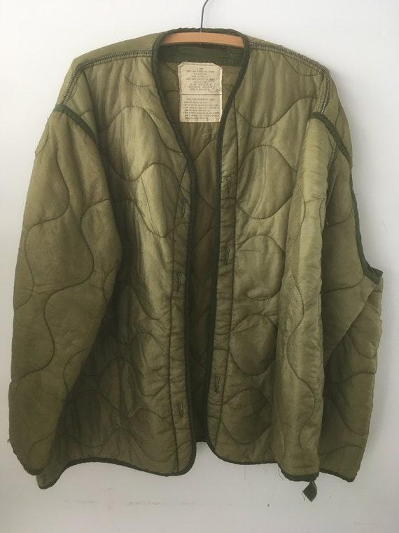 Vintage Green Military Liner Jacket