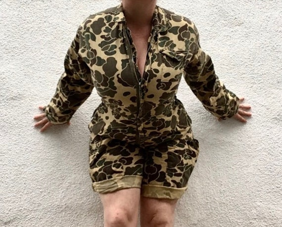 Vintage Coverall shorts Duck Camo
