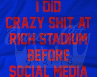 Buffalo Stadium Crazy Tailgate Before Social Media T-Shirt