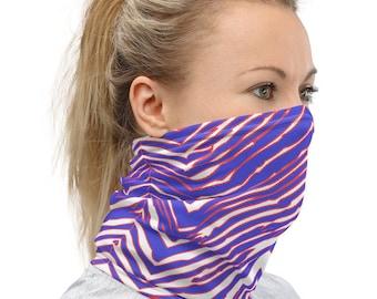 Buffalo Zebra Print Face Mask Neck Gaiter